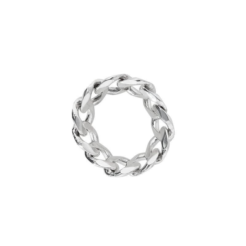 VIKA jewels self love collection wide chain ring recycled sterling silver handmade bali sustainable ethical nachhaltig