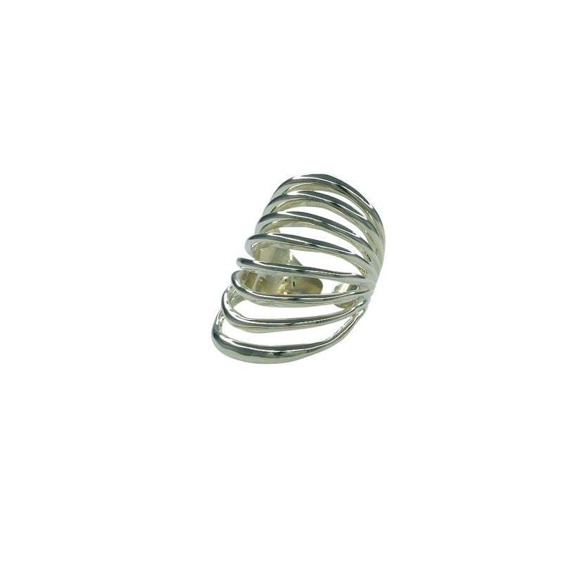 VIKA jewels ARMOUR RING 1 fantasia collection recycled sterling silver ring handmade Bali
