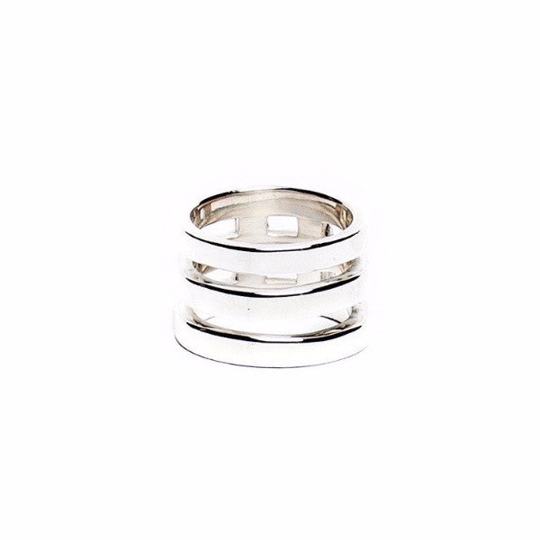 TRIPLE BRIDGE RING Midi