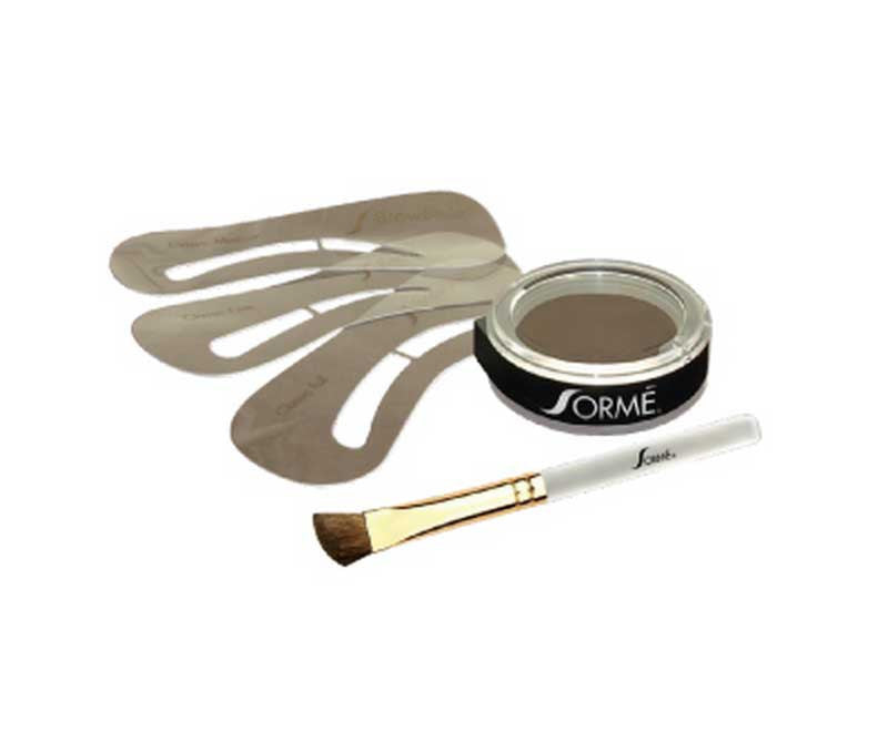 ALWAYS PERFECT BROWS KIT - POWDER & STENCIL Dark Smoke, Brows - Sormé, SormeSA  - 5