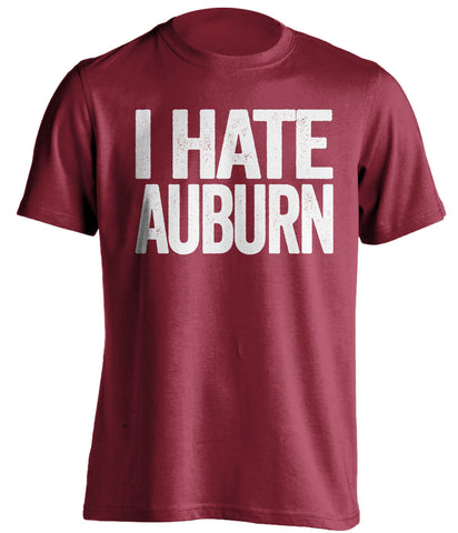 i hate auburn alabama crimson tide red tshirt