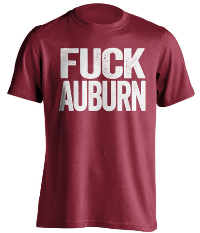 fuck auburn alabama crimson tide red tshirt