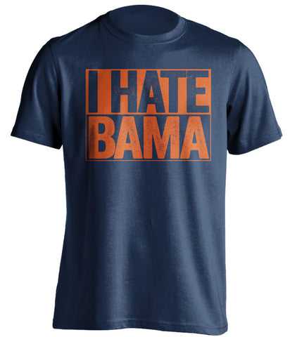 i hate bama auburn tigers blue shirt