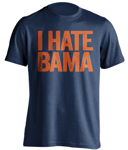 i hate bama auburn tigers blue tshirt