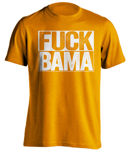 fuck bama tennessee volunteers orange shirt