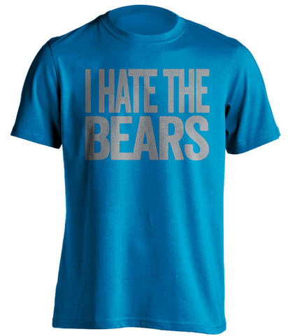 i hate the bears detroit lions blue tshirt