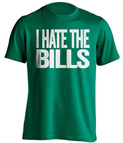 i hate the bills new york jets green tshirt