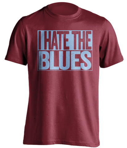 I Hate The Blues Aston Villa FC red TShirt