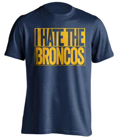 I Hate The Broncos - San Diego Chargers T-Shirt - Box Design