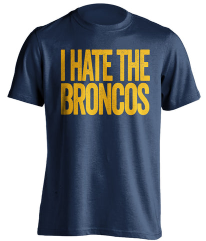 i hate the broncos san diego chargers blue shirt