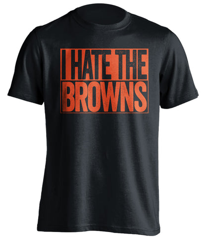 i hate the browns cincinnati bengals black shirt