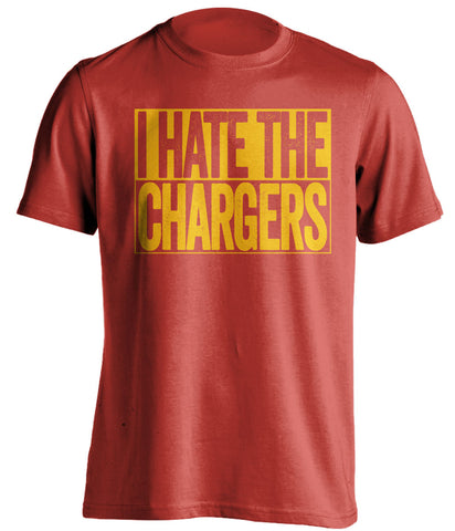 i hate the chargers kansas city chiefs red shirt