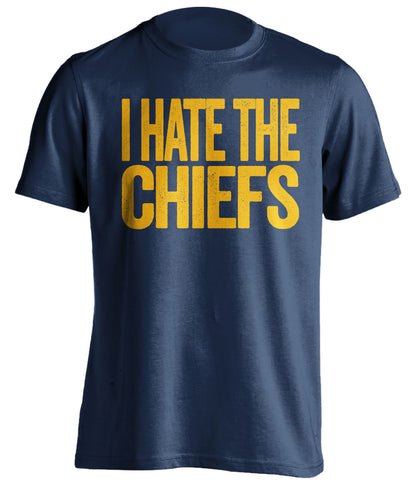 i hate the chiefs san diego chargers blue tshirt