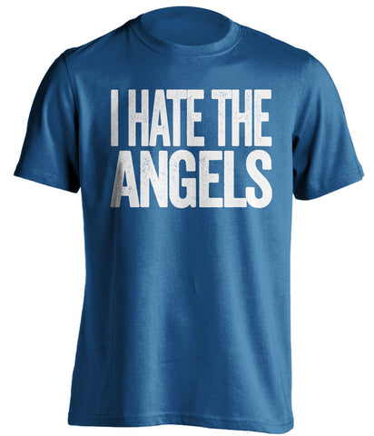 i hate the angels los angeles dodgers blue tshirt