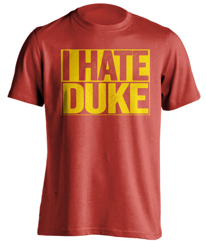i hate duke maryland terrapins red shirt