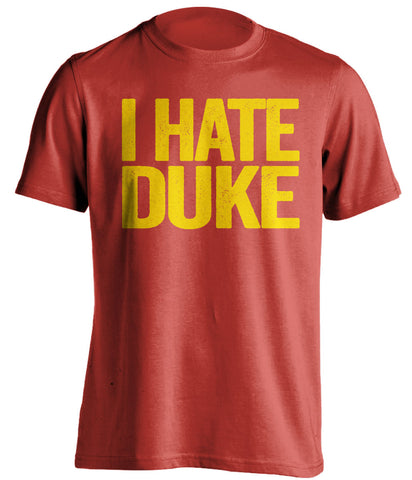 i hate duke maryland terrapins red tshirt