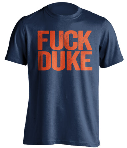 fuck duke virginia cavaliers blue tshirt