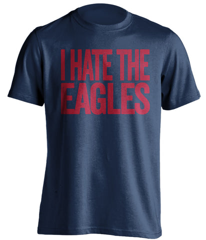 I Hate The Eagles New York Giants blue Shirt
