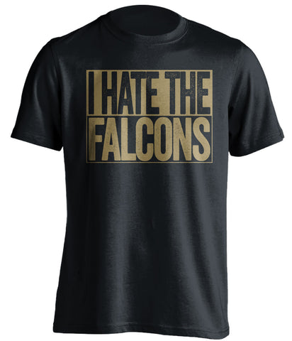 i hate the falcons new orleans saints black shirt