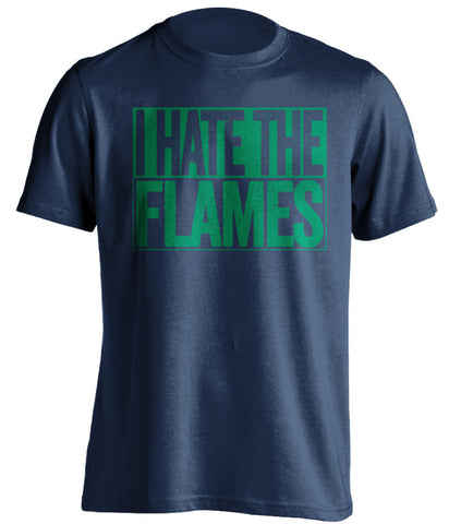 I Hate The Flames - Vancouver Canucks Fan T-Shirt - Box Design - Beef Shirts