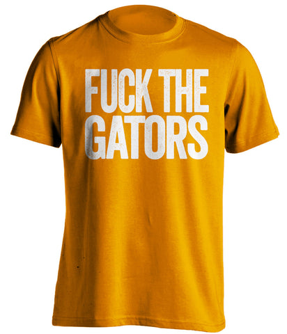 fuck the gators tennessee volunteers orange tshirt