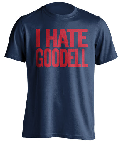 I Hate Goodell New England Patriots blue Shirt
