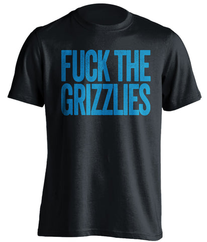 fuck the grizzlies oklahoma city thunder black tshirt