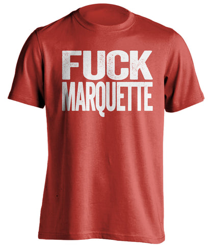 fuck marquette wisconsin badgers red shirt