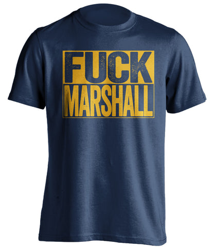 fuck marshall west virginia mountaineers blue shirt