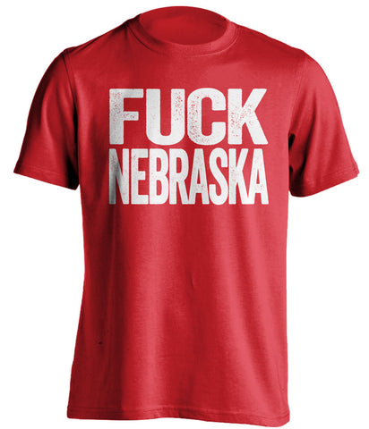 fuck nebraska wisconsin badgers red tshirt