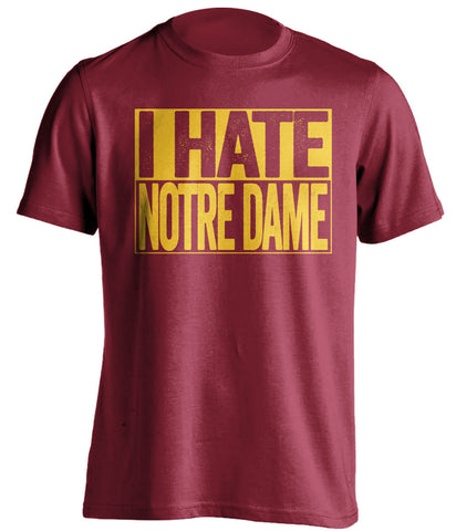 i hate notre dame usc trojans red shirt