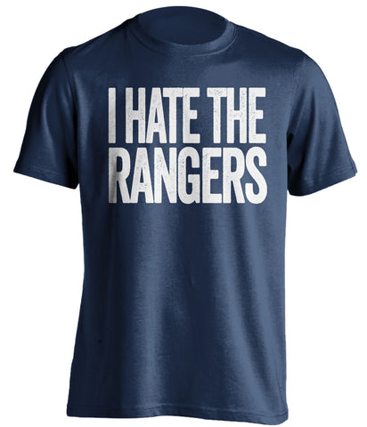 i hate the rangers new york yankees blue tshirt