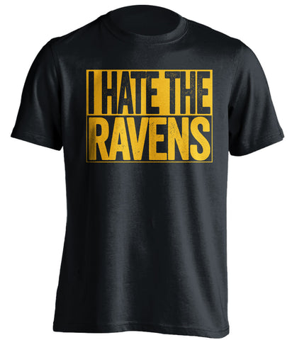 i hate the ravens pittsburgh steelers black shirt