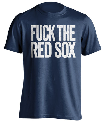 fuck the red sox new york yankees blue tshirt