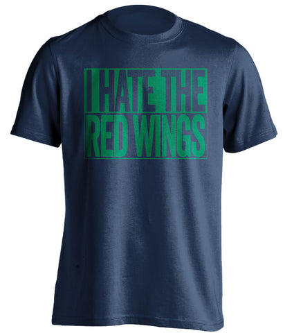 i hate the red wings vancouver canucks blue shirt