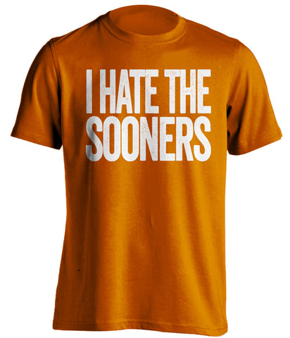 i hate the sooners texas longhorns orange tshirt