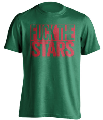 FUCK THE STARS Minnesota Wild green TShirt