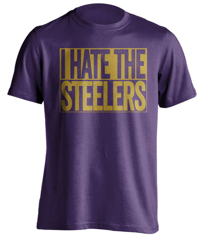 i hate the steelers baltimore ravens purple shirt