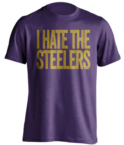 i hate the steelers baltimore ravens purple tshirt