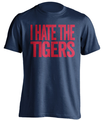 i hate the tigers cleveland indians blue tshirt