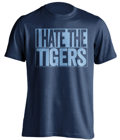 i hate the tigers kansas city royals blue shirt