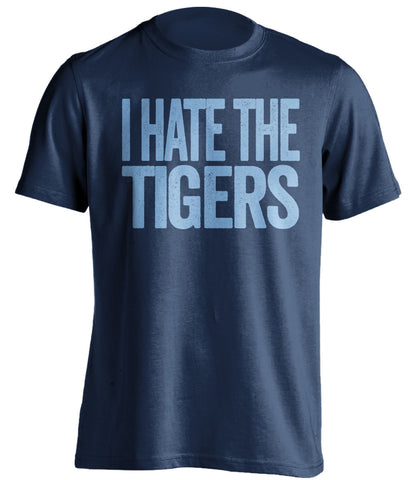 i hate the tigers kansas city royals blue tshirt