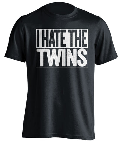 i hate the twins chicago white sox black shirt