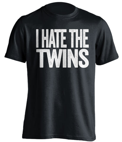 i hate the twins chicago white sox black tshirt