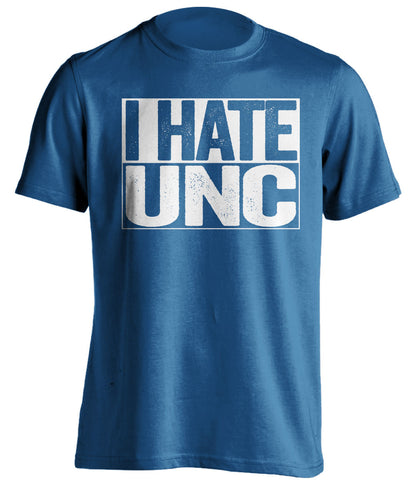 i hate unc duke blue devils blue shirt