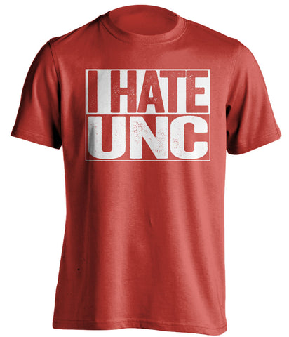 i hate unc nc state wolfpack red shirt
