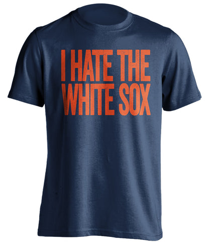 i hate the white sox detroit tigers blue tshirt