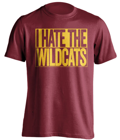 i hate the wildcats arizona state sun devils red shirt