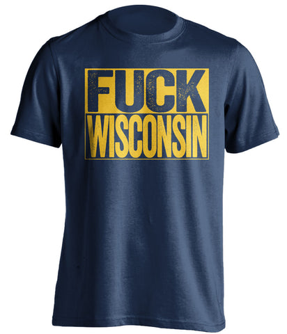 fuck wisconsin marquette eagles blue shirt