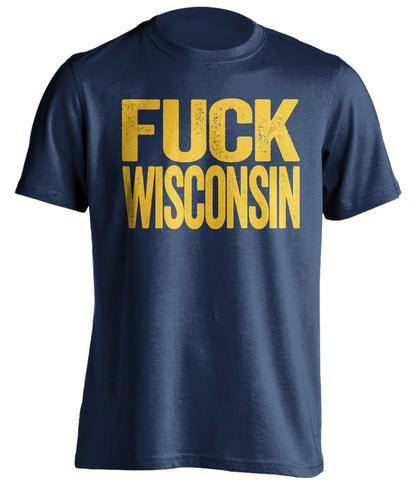 fuck wisconsin marquette eagles blue tshirt